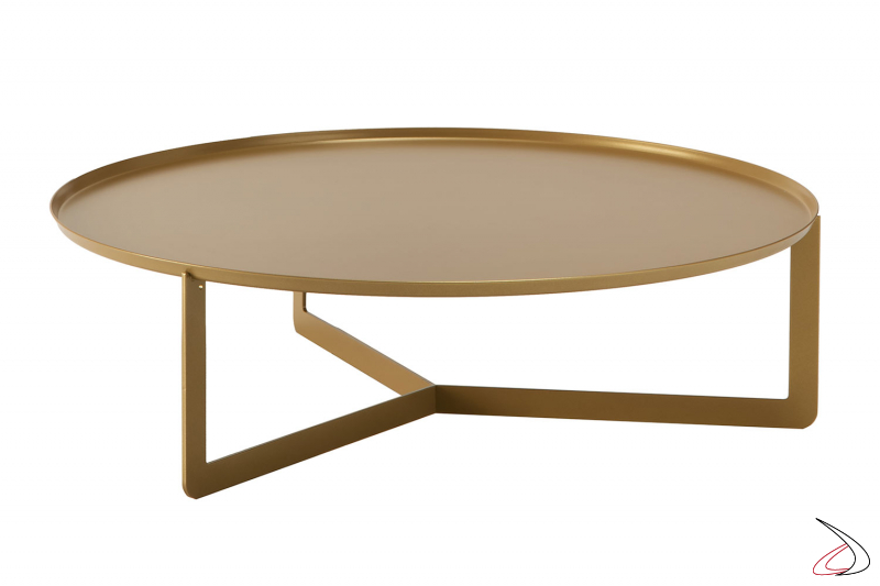 Tavolino Round grande con vassoio