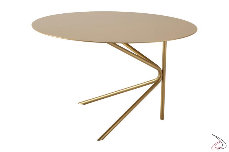 Tavolino basso rotondo di design in metallo