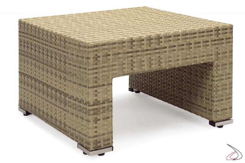 Tavolino da giardino esterno colore moka