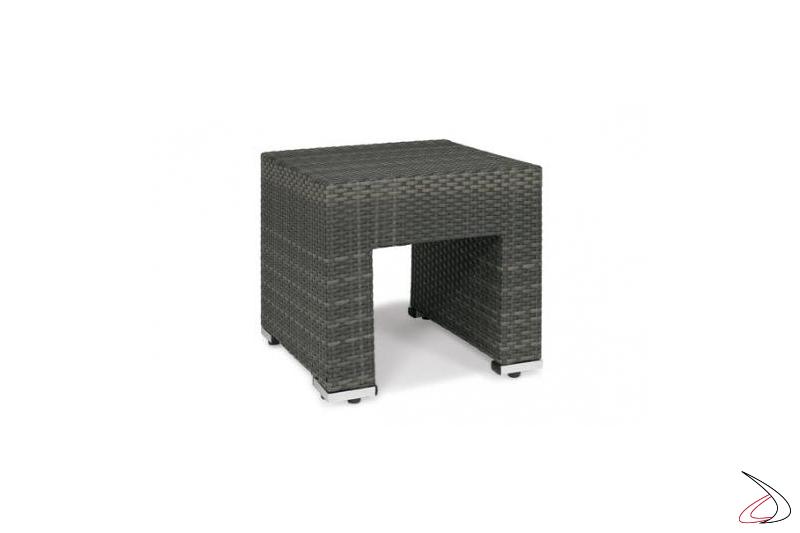 Tavolino da bordo piscina in grigio cenere