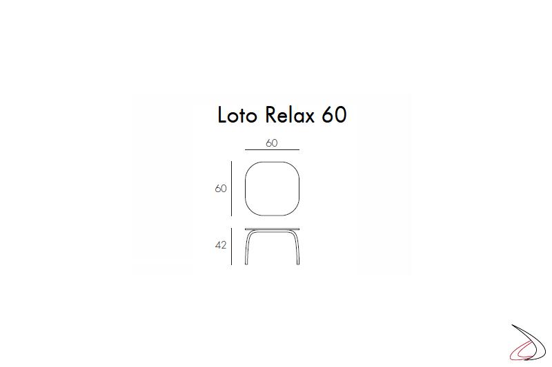 Nardi Garden - Misure tavolino HPL Loto Relax 60