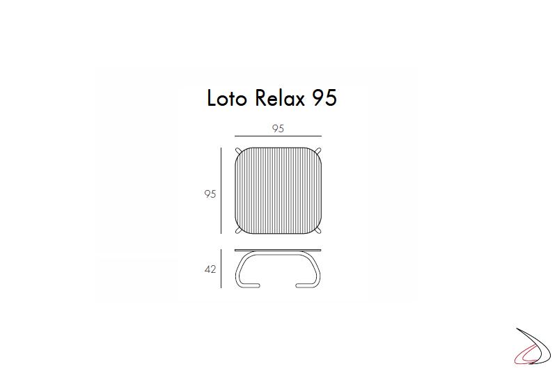 Nardi Garden - Misure tavolino in vetro Loto Relax 95