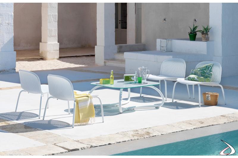 Tavolino Loto Relax 95 per arredo esterno