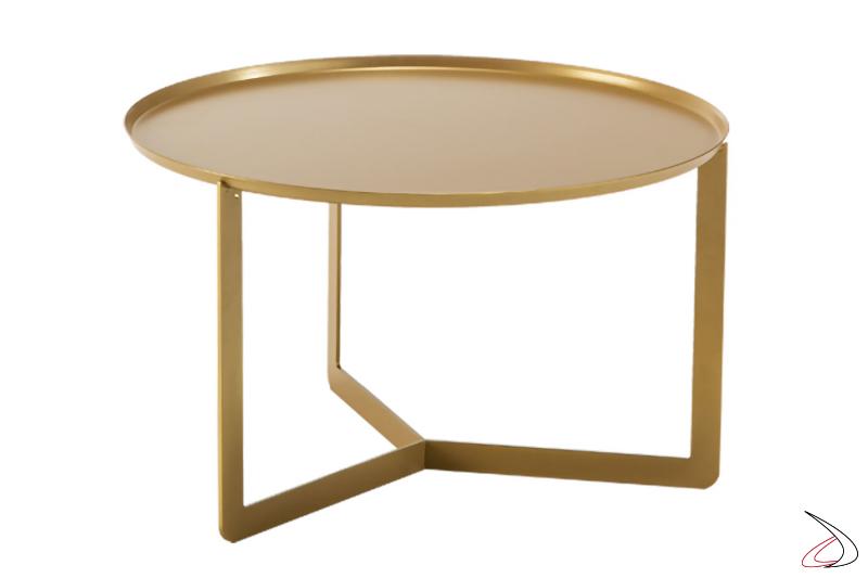 Tavolino rotondo basso da soggiorno