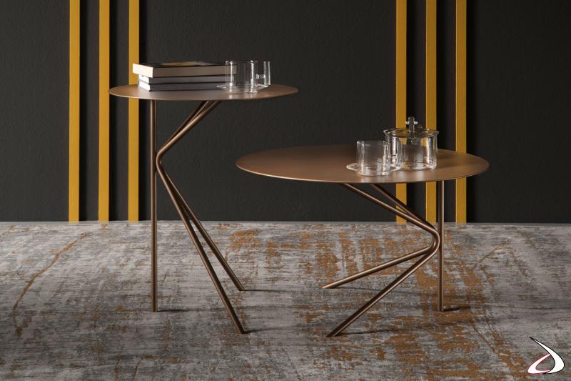 Tavolini con piani ed altezze differenziate Twin