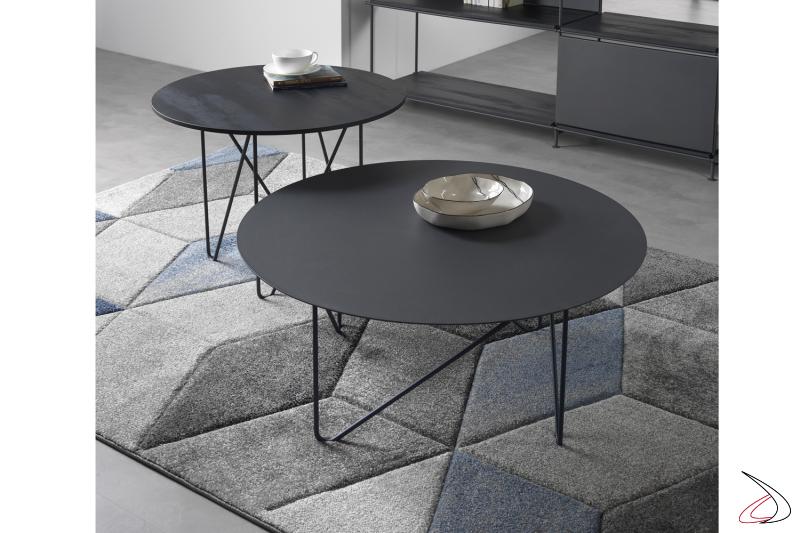 Tavolini Shape rotondi Ø 70 cm e Ø 90 cm.