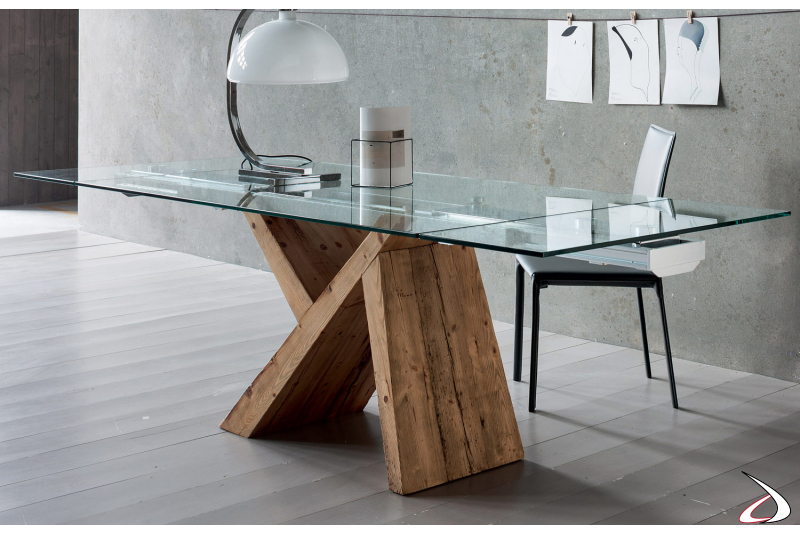 Contemporary extending table for living room