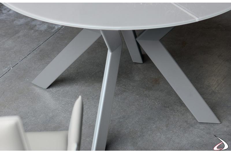 Tavolo allungabile rotondo da cucina e da soggiorno