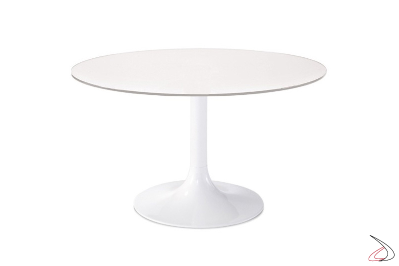 Tavolo Carry laccato bianco opaco