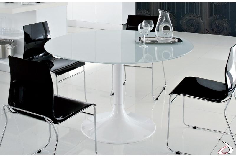Tavolo Carry laccato bianco