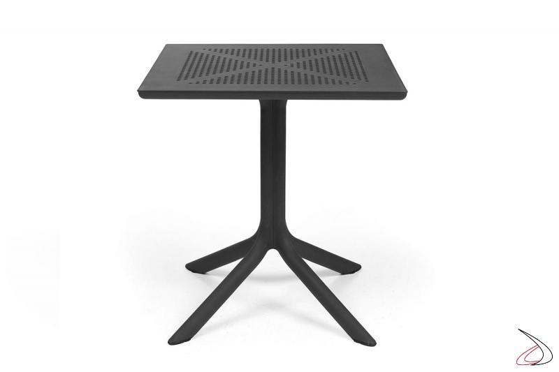 Tavolo di colore antracite modello Clip 70
