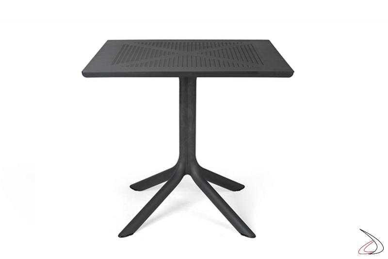 Tavolo di colore antracite modello Clip 80