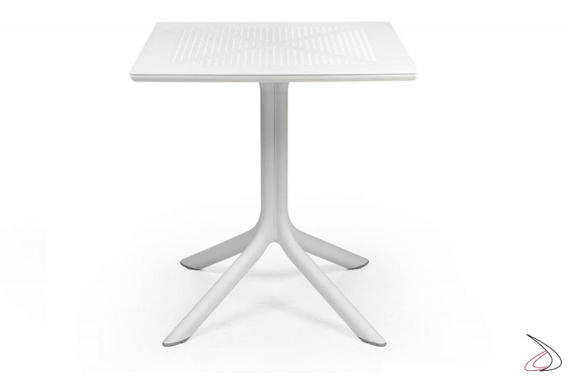 Tavolo di colore bianco modello Clip 70