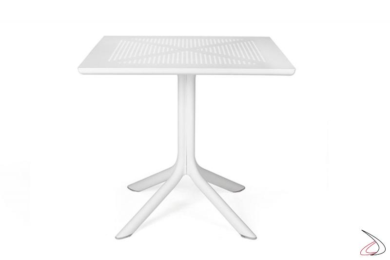 Tavolo di colore bianco modello Clip 80