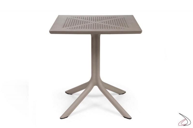 Tavolo di colore tortora modello Clip 70