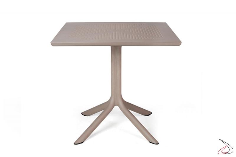 Tavolo di colore tortora modello Clip 80