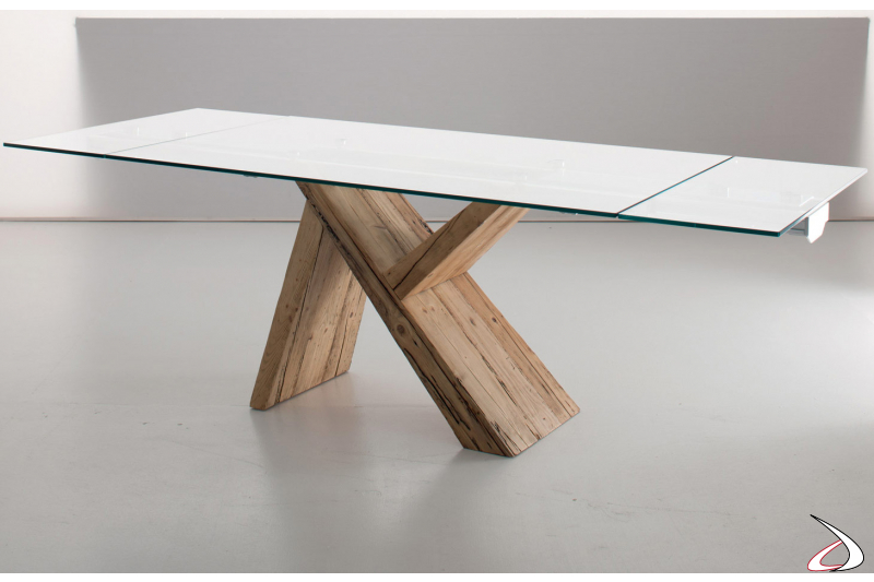 Extendable kitchen design table