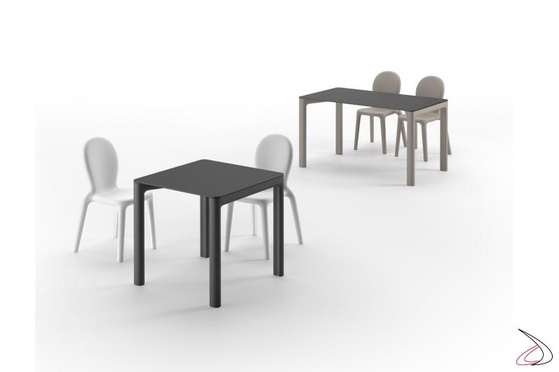 Collezione Chloè tavoli e sedie per locali moderni.