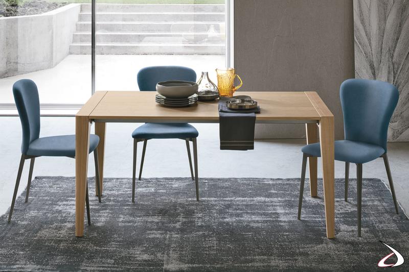 Tavolo allungabile in legno da soggiorno Tinner