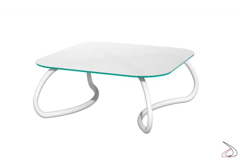 Tavolino Loto Relax 95 di Nardi per arredo esterno in colore bianco
