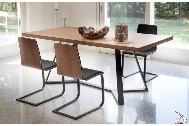 Tavolo rettangolare in legno Arca