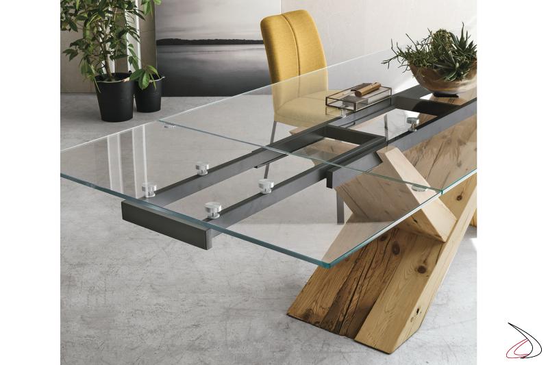 Dettaglio allunga tavolo Venezia