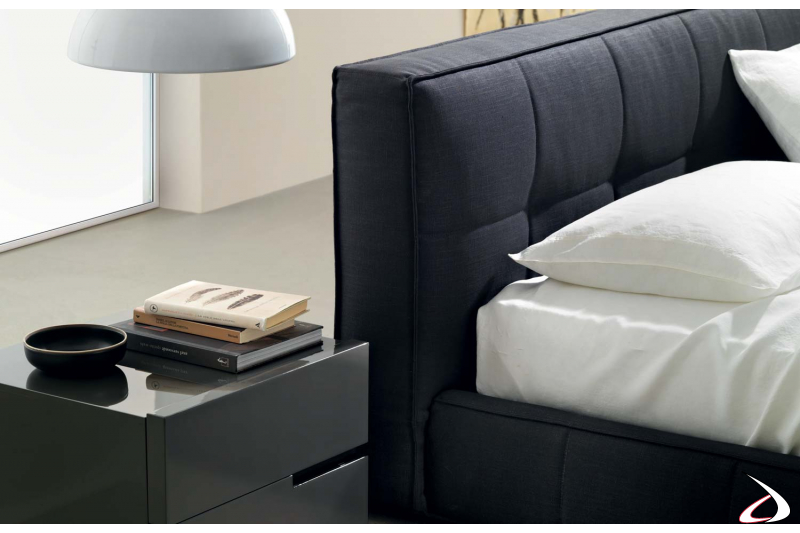 padded and quilted bed frame and headboard