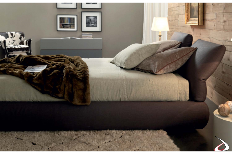 Design upholstered  double bed  with container
