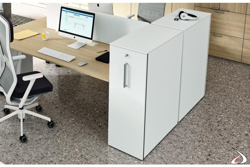 Classificatore ufficio moderno alto con serratura e maniglia verticale