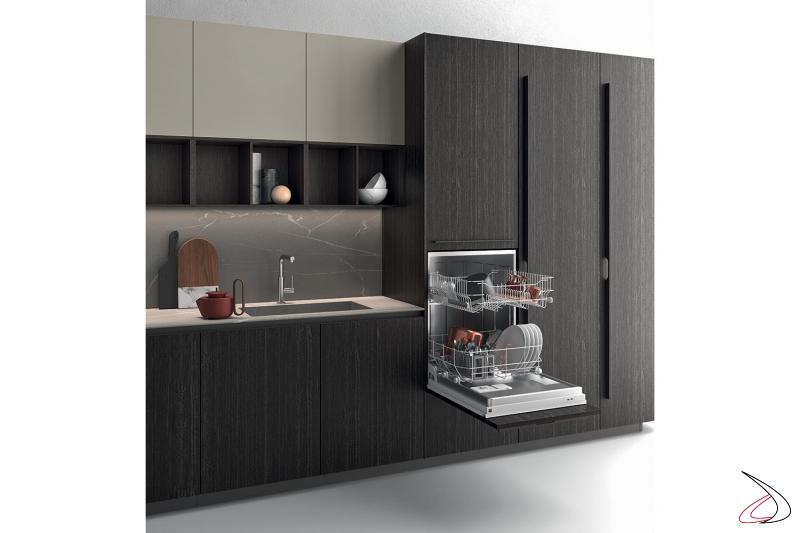 Cucina moderna di design completa di elettrodomestici