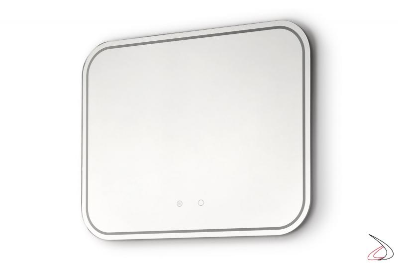 Specchio moderno retroilluminato a led con funzione antiappannamento