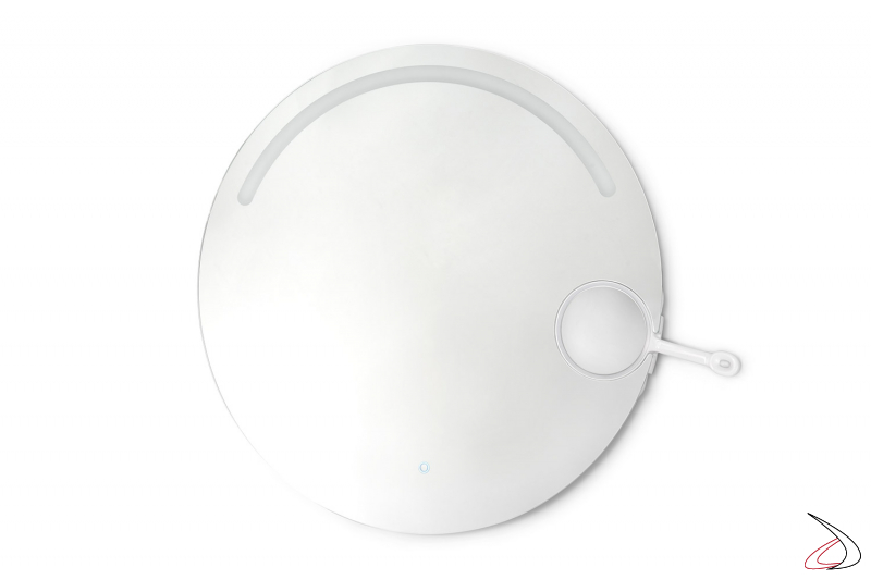 Specchiera rotonda moderna da bagno retroilluminata