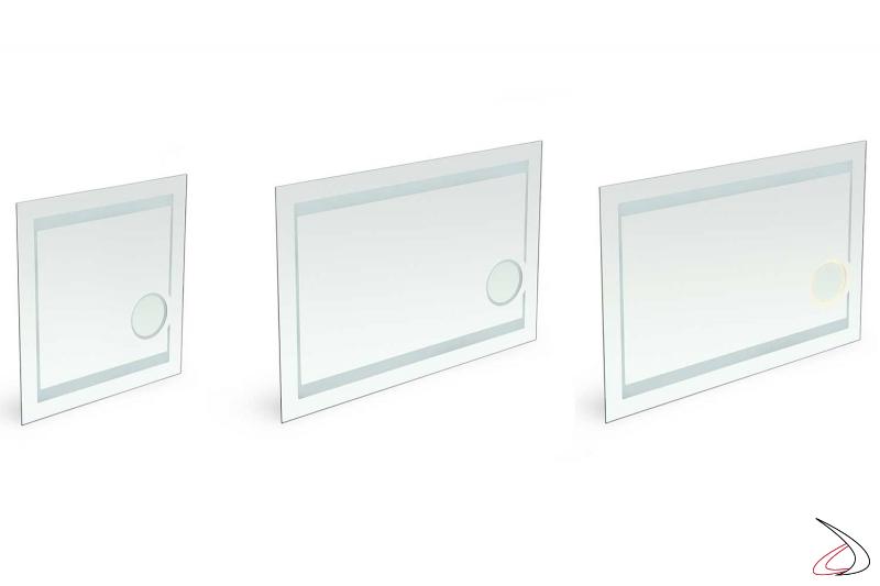 Specchi bagno con ingranditore per trucco retroilluminati