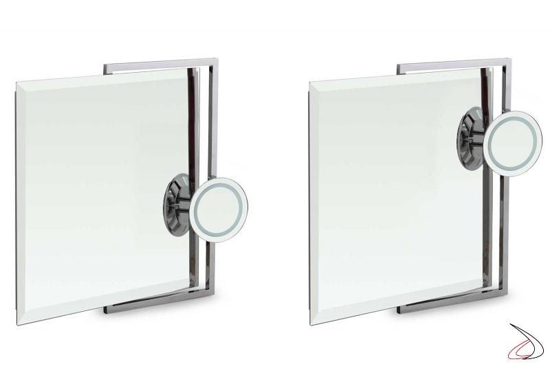 Specchi design bagno con ingranditore retroilluminato a led