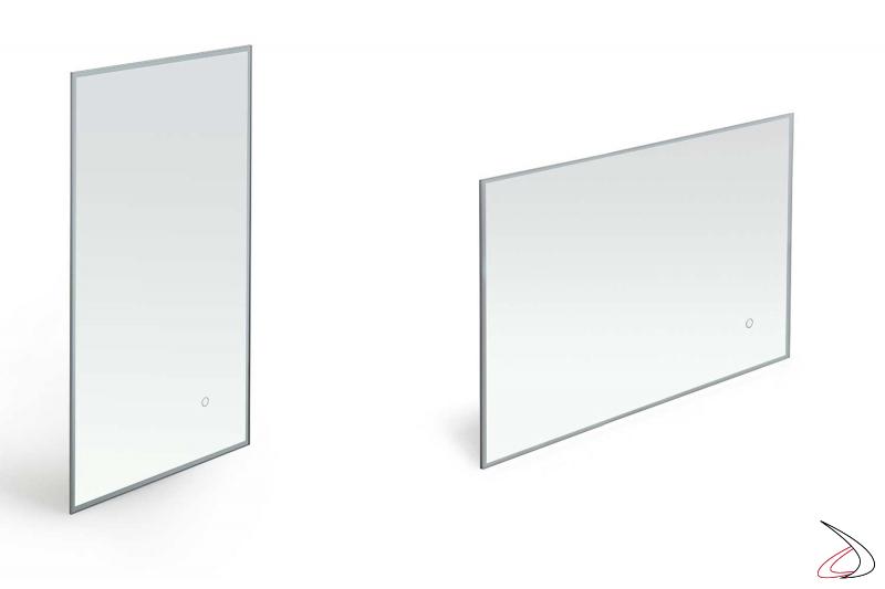 Specchi design da bagno verticale o orizzontale con cassa vibrante