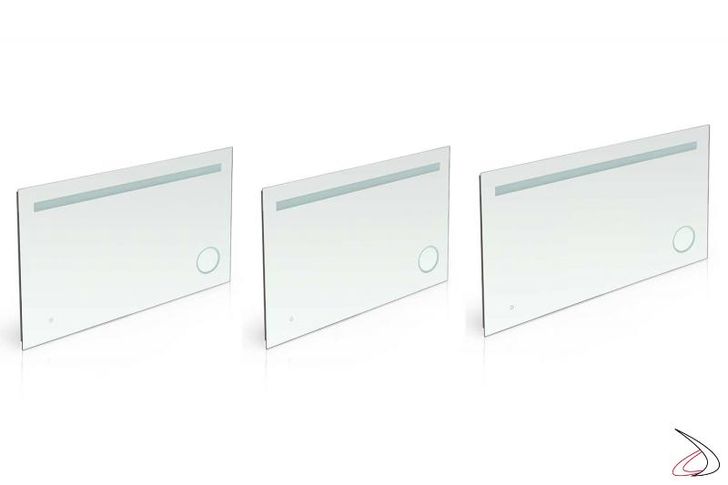 Specchi design con ingranditore retroilluminati da bagno