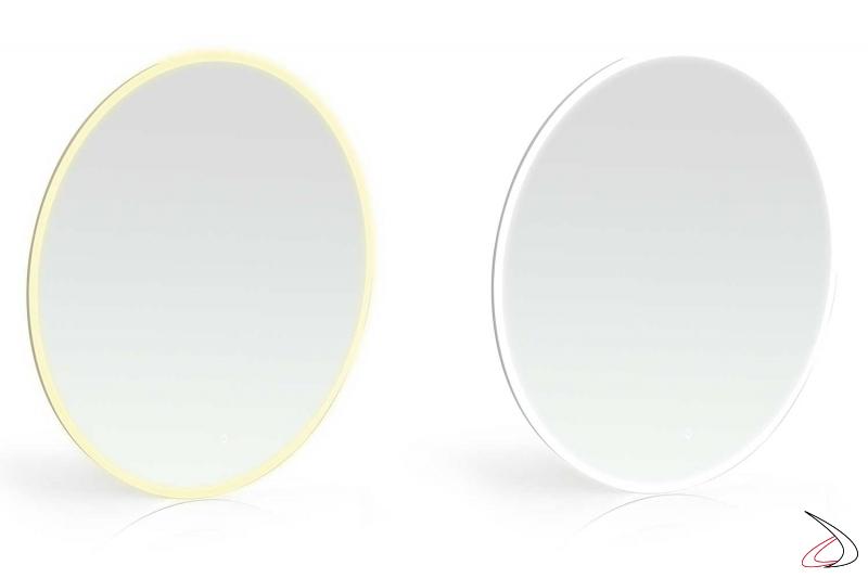 Specchi rotondi bagno di design con doppia luce led