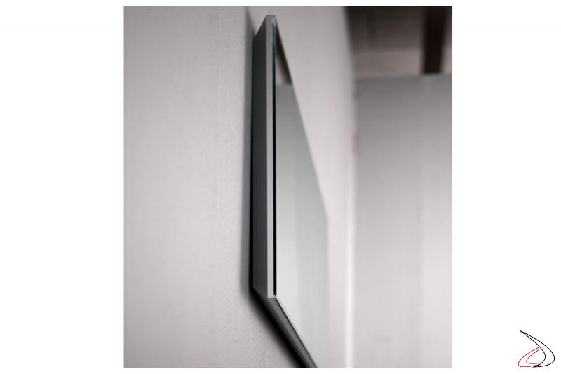 Specchio bagno rettangolare con luce led di design