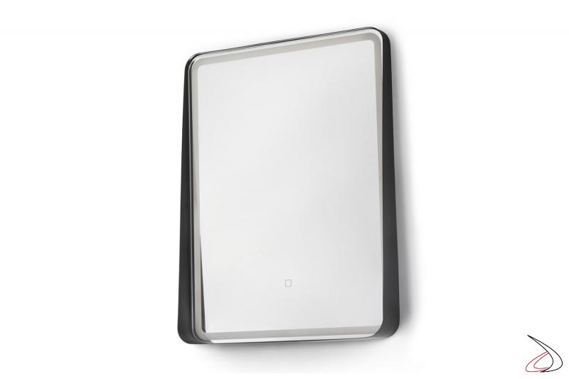 Specchio moderno rettangolare retroilluminati con interruttore touch