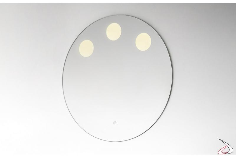 Specchio rotondo da bagno retroilluminato OLED
