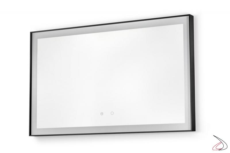 Specchio moderno grande da bagno retroilluminato led con interruttori touch