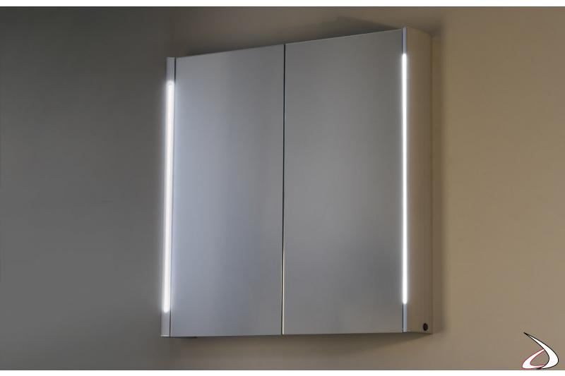 Specchiera moderna contenitore retroilluminata con interruttore a infrarossi