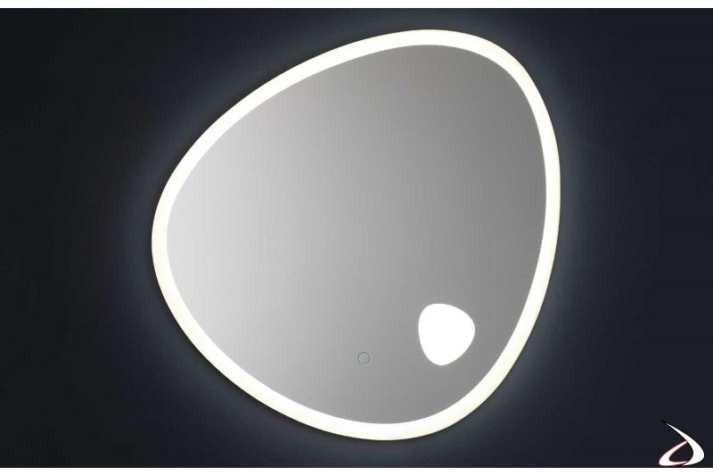 Specchio retroilluminato con luce led fredda 6000K
