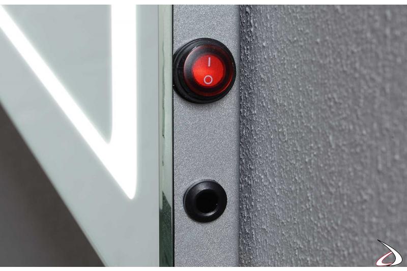 Interruttore infrarossi e interruttore on/off per antiappannamento