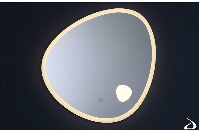 Specchio retroilluminato con luce led calda 4000K