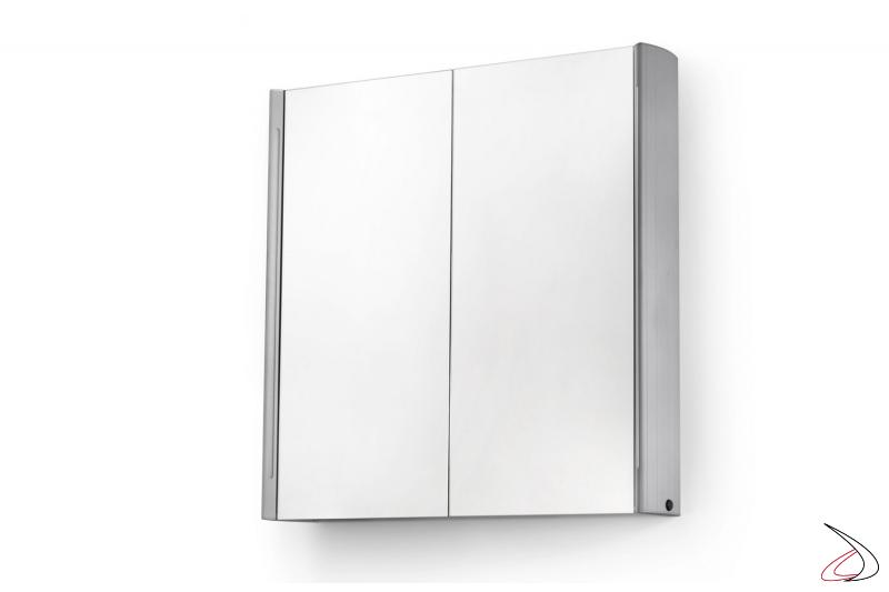 Specchio bagno moderno contenitore retroilluminata con interruttore a infrarossi