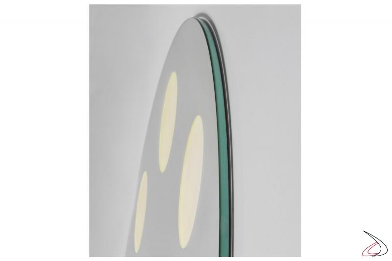 Specchiera di design rotonda da bagno con illuminazione a OLED