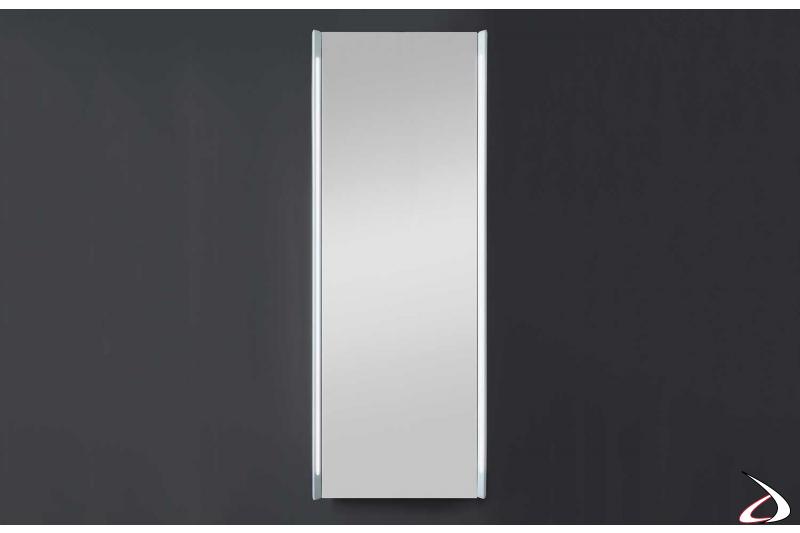 Specchio verticale grande contenitore da arredo bagno con led