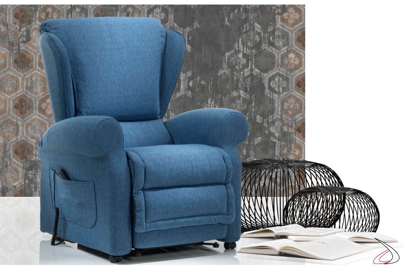 Poltrona extra comfort grazie all'ampia seduta imbottita