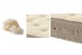 Materasso medio rigido con fodera in lana e in cotone